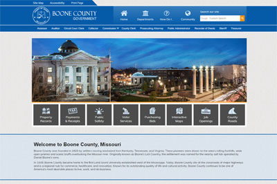 Boone County Announces Launch of New Website Design