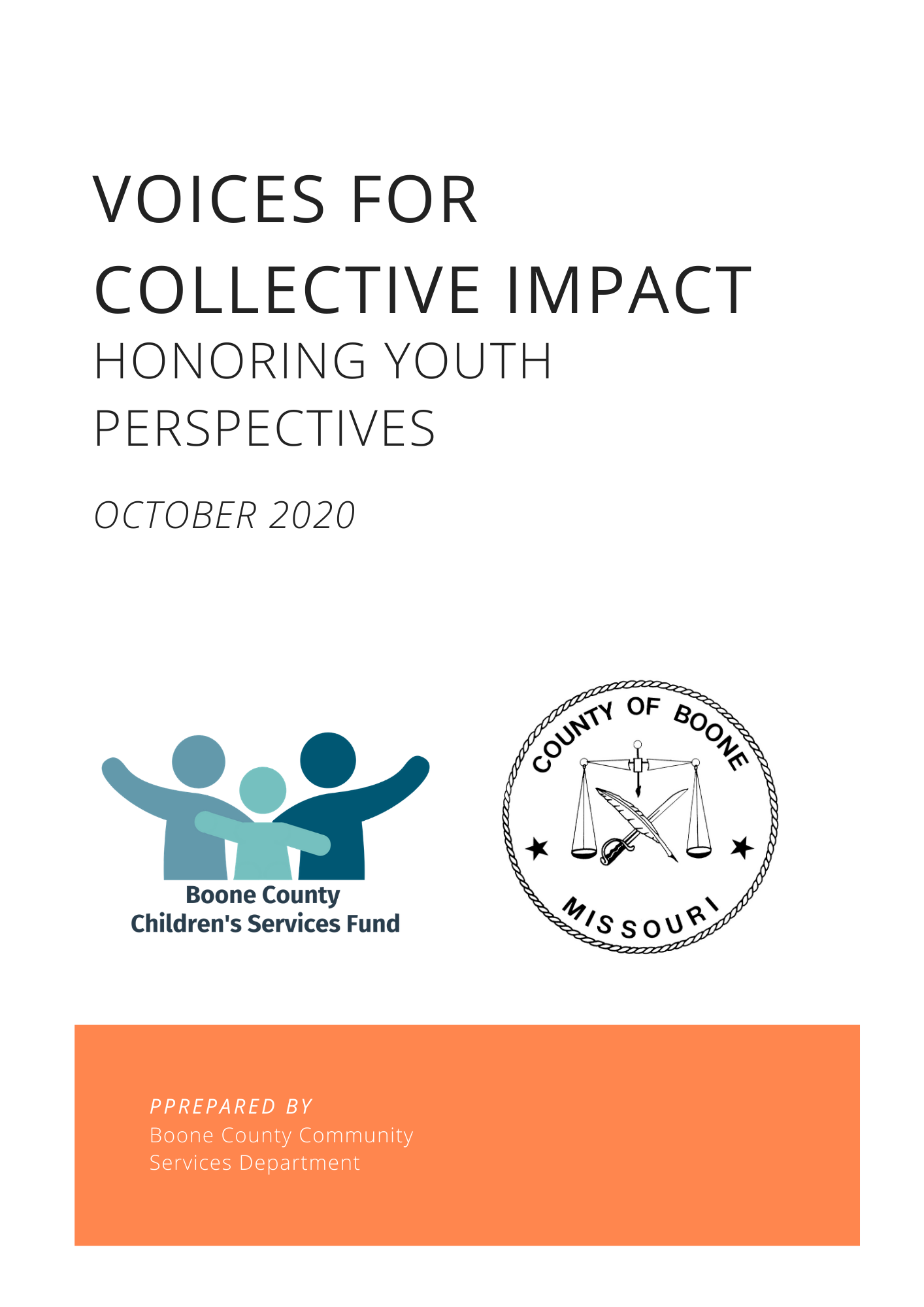 Voices for Collective Impact - Honoring Youth Perspectives Report - October 2020