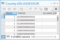 map sample of an Assessor AA Table