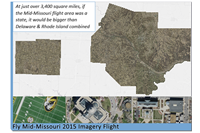 overview of the 2015 ortho imagery flight over 3,400 square miles in seven counties
